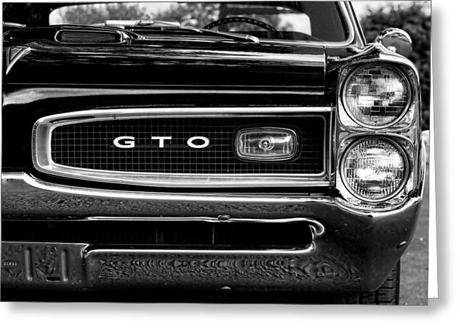 Recently Sold -  - Indy Car Greeting Cards - 1966 Pontiac GTO Greeting Card by Gordon Dean II