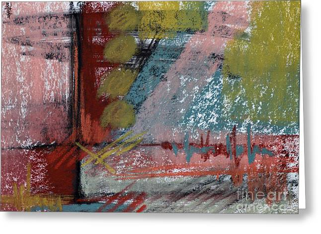 Contemporary Abstract Pastels Greeting Cards - Midnight at the ER Greeting Card by Tracy L Teeter