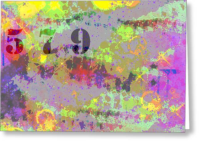 Technical Digital Art Greeting Cards - 5 7 9 Greeting Card by Paulette B Wright
