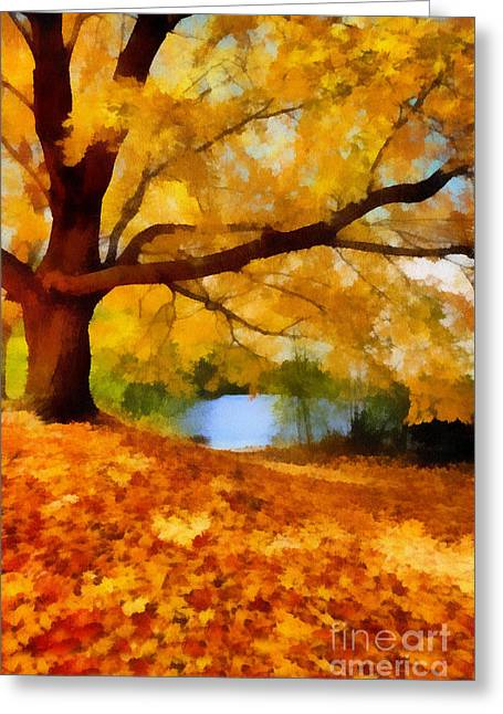 Fall Greeting Cards - A Blanket of Fall Colors Greeting Card by Amy Cicconi