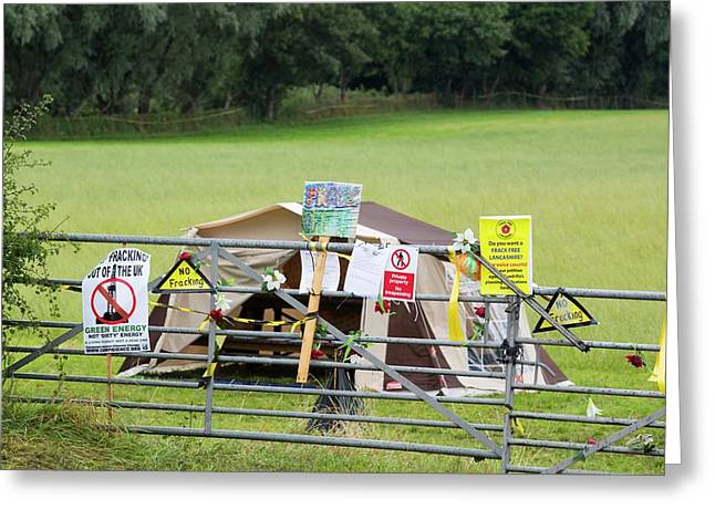 A Protest Banner Against Fracking Greeting Card by Ashley Cooper