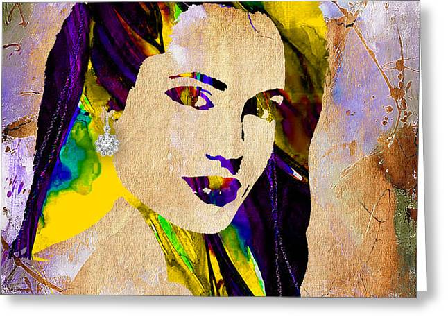Tomb Mixed Media Greeting Cards - Angelina Jolie Collection Greeting Card by Marvin Blaine