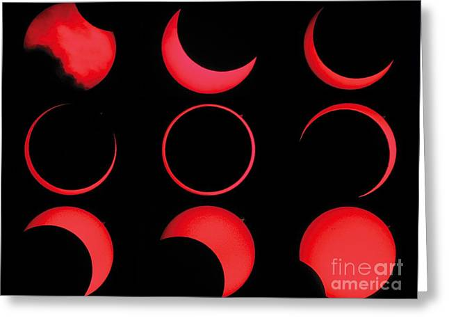 3 October Greeting Cards - Annular Solar Eclipse Greeting Card by Laurent Laveder