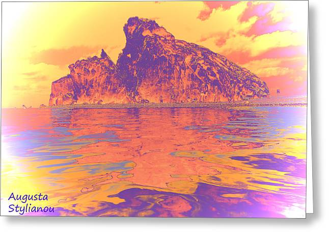 Petra Tou Romiou Greeting Cards - Aphrodites Birth Place Greeting Card by Augusta Stylianou