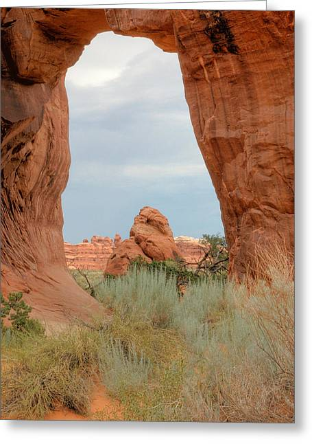 Arches National Park In Utah. Greeting Card by Rob Huntley