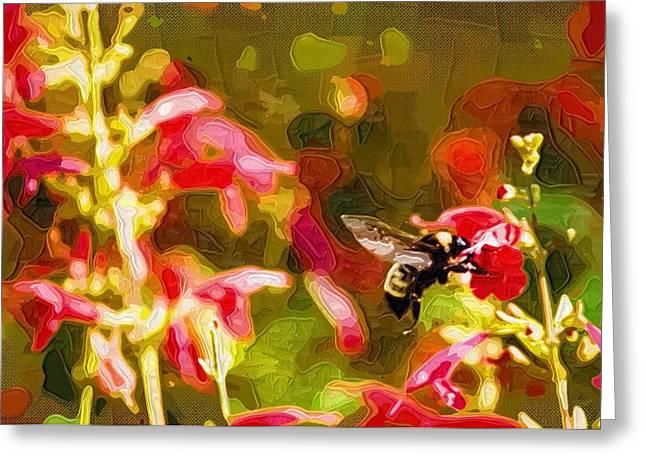 Easter Flowers Paintings Greeting Cards - Art Paintings Of Flowers Greeting Card by Victor Gladkiy