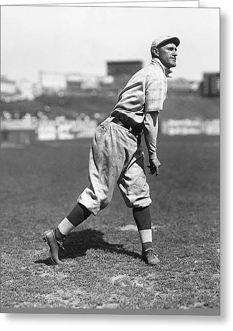 Baseball Photographs Greeting Cards - Arthur Art Fletcher Greeting Card by Retro Images Archive