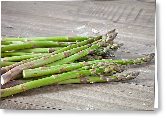 Asparagus Greeting Card by Tom Gowanlock