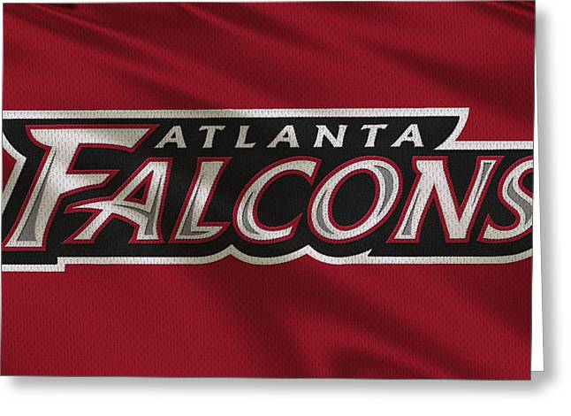 Falcons Greeting Cards - Atlanta Falcons Uniform Greeting Card by Joe Hamilton