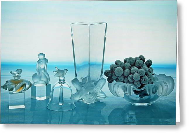 Glass Vase Greeting Cards - Avantgarde Greeting Card by Manfred Lutzius