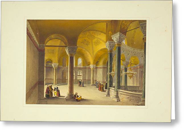 Ayasofya Mosque Greeting Card by Celestial Images