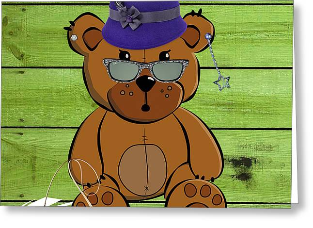 Kids Room Greeting Cards - Baby Bear Collection Greeting Card by Marvin Blaine