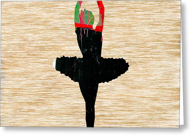 Ballet Slippers Greeting Cards - Ballerina Greeting Card by Marvin Blaine
