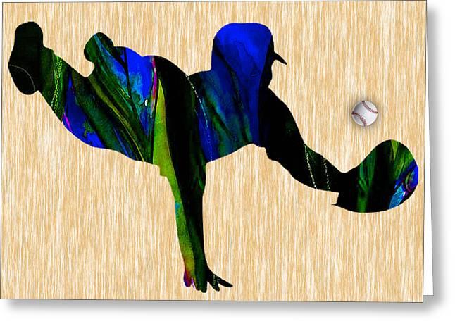 Ballgame Greeting Cards - Baseball Greeting Card by Marvin Blaine