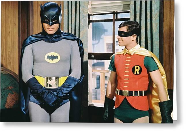 Batman Photographs Greeting Cards - Batman  Greeting Card by Silver Screen