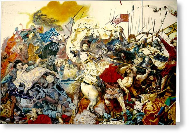 Battle Of Grunwald Greeting Card by Henryk Gorecki