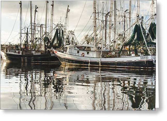 Bayou LaBatre' AL Shrimp Boat Reflections Greeting Card by Jay Blackburn
