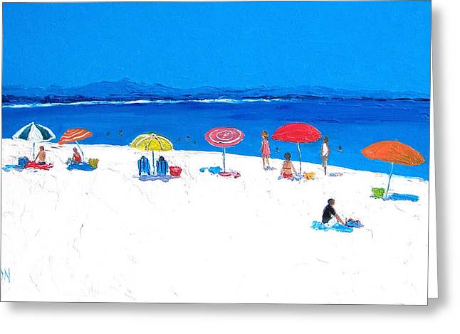 Byron Greeting Cards - Beach Umbrellas Greeting Card by Jan Matson