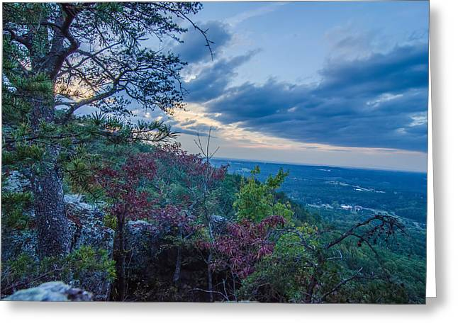 Beautiful Aerial Landscape Views From Crowders Mountain Near Gas Greeting Card by Alex Grichenko
