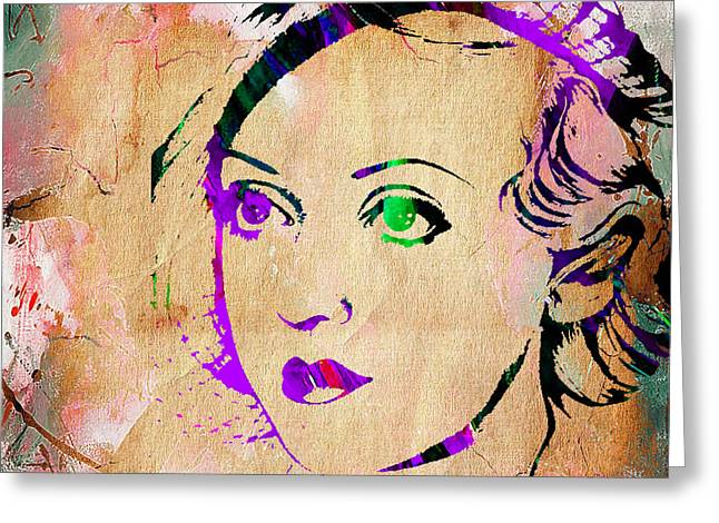 Bette Davis Greeting Cards - Bette Davis Collection Greeting Card by Marvin Blaine