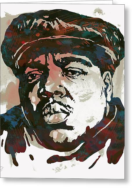 Colours Mixed Media Greeting Cards - Biggie smalls Modern art drawing poster Greeting Card by Kim Wang