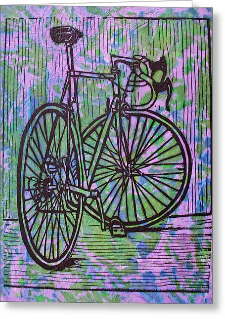 Ten Speed Greeting Cards - Bike 4  Greeting Card by William Cauthern