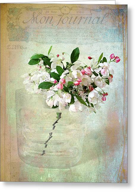 Vintage Floral Greeting Cards - Blossom Greeting Card by Jessica Jenney