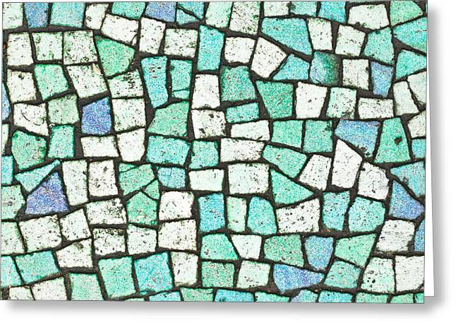 Greek Icon Greeting Cards - Blue tiles Greeting Card by Tom Gowanlock