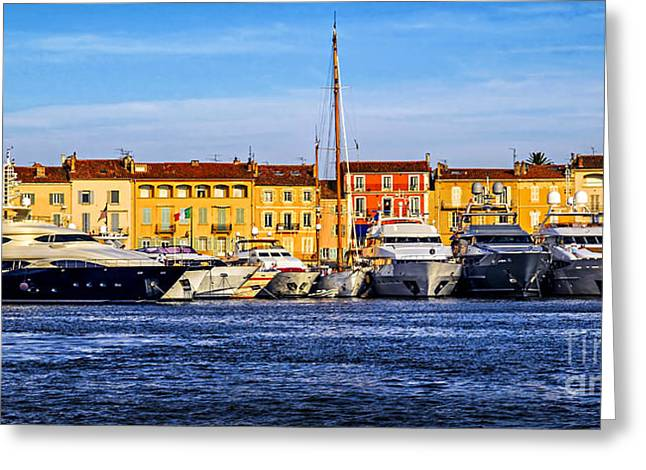 Azur Photographs Greeting Cards - Boats at St.Tropez Greeting Card by Elena Elisseeva