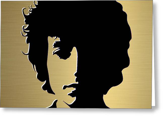 Dylan Greeting Cards - Bob Dylan Gold Series Greeting Card by Marvin Blaine