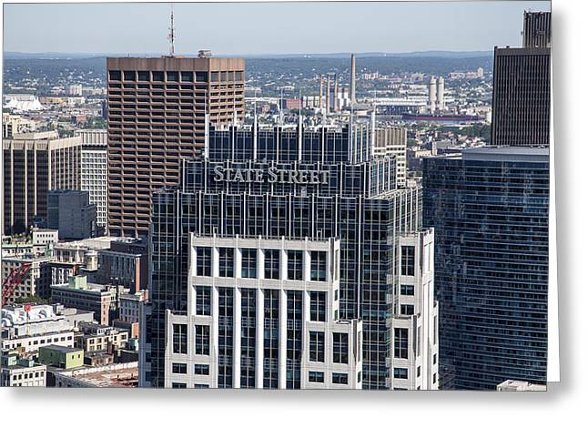 Dave Greeting Cards - Boston Downtown, Massachusetts Ma Greeting Card by Dave Cleaveland