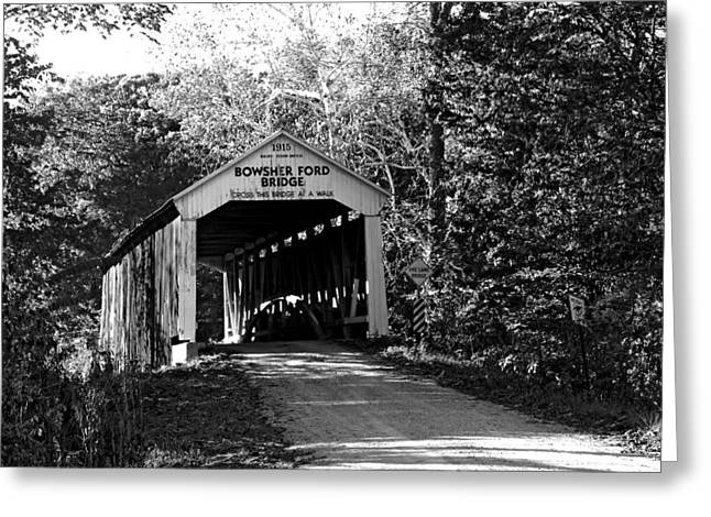 Indiana Scenes Greeting Cards - Bowsher Ford Bridge Greeting Card by Robert Turner
