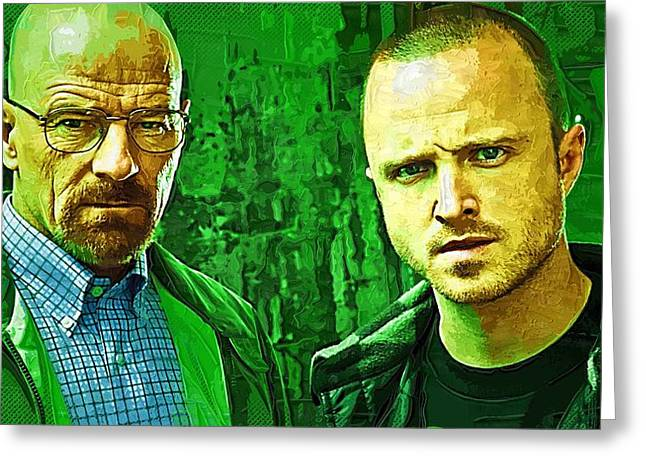 Bad News Greeting Cards - Breaking Bad The Movie Greeting Card by Victor Gladkiy