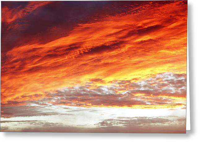 Meteorology Greeting Cards - Bright sky Greeting Card by Les Cunliffe