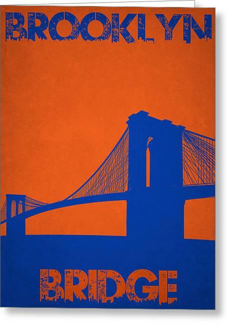 Urban Jungle Greeting Cards - Brooklyn Bridge Greeting Card by Joe Hamilton
