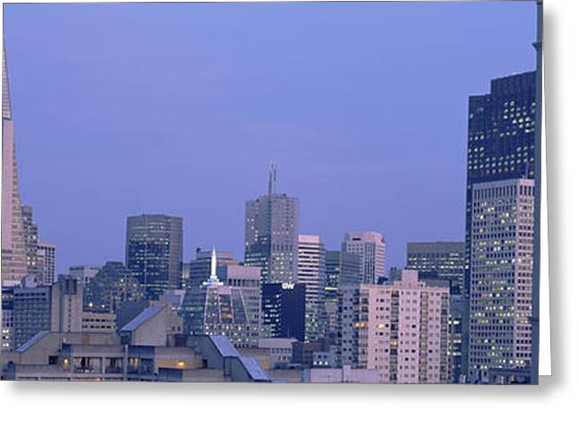 Financial District San Francisco Greeting Cards - Buildings In A City, San Francisco Greeting Card by Panoramic Images
