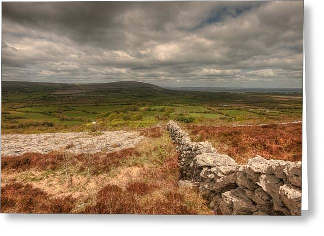 Galway Bay Greeting Cards - Burren View Greeting Card by John Quinn