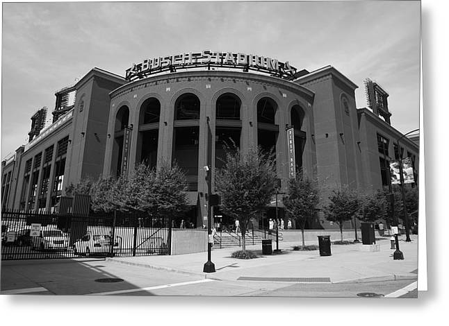 Arch Greeting Cards - Busch Stadium - St. Louis Cardinals Greeting Card by Frank Romeo