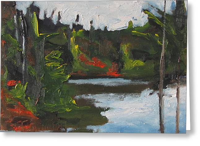 By The Pond Greeting Card by Francois Fournier