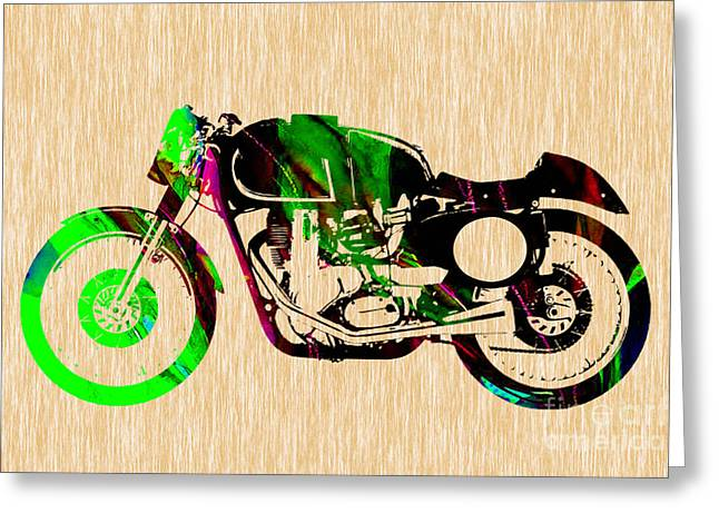 Motorbikes Greeting Cards - Cafe Racer Greeting Card by Marvin Blaine