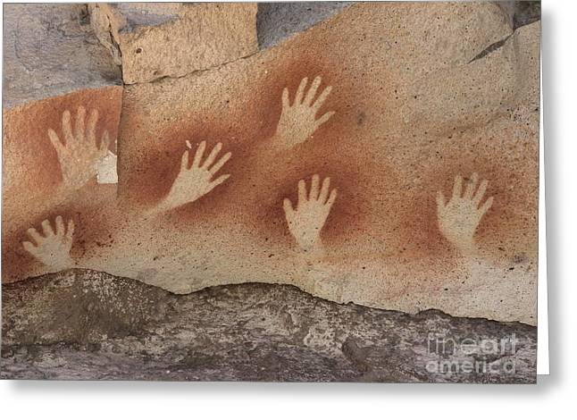 Santa Cruz Art Greeting Cards - Cave Of The Hands Argentina Greeting Card by Javier Trueba MSF SPL
