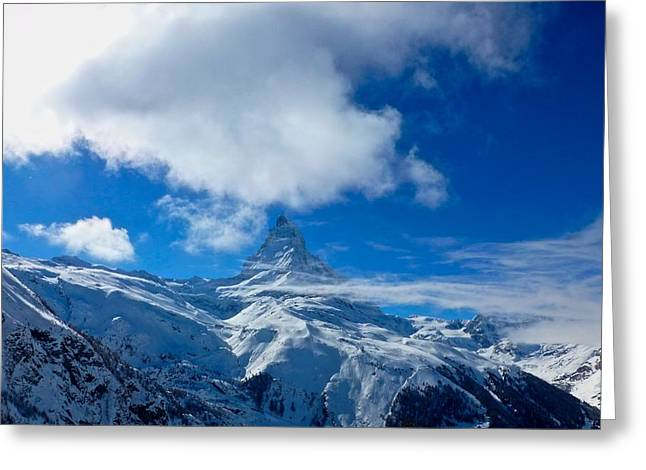 Sky Jewelry Greeting Cards - cervino - Matterhorn Greeting Card by Pierfrancesco Maria Rovere