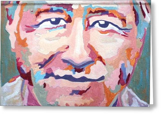 Denver Artist Greeting Cards - Cesar Chavez Greeting Card by Randy Segura