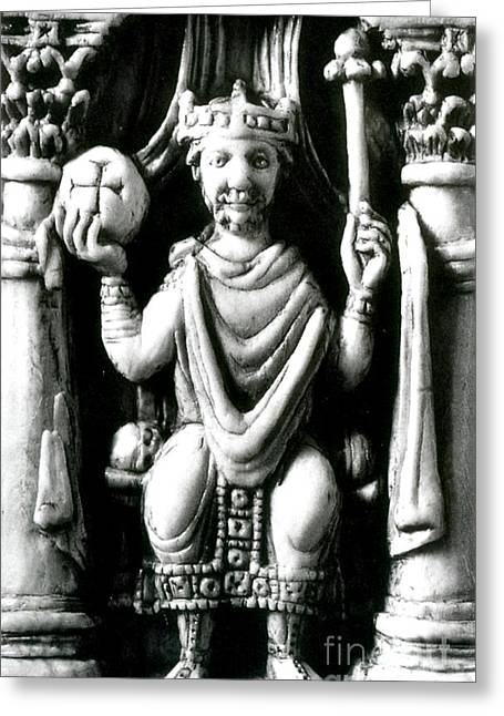Charlemagne, Emperor Of The Romans Greeting Card by Photo Researchers