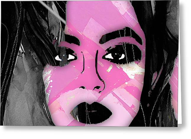 Pop Mixed Media Greeting Cards - Charli XCX Collection Greeting Card by Marvin Blaine