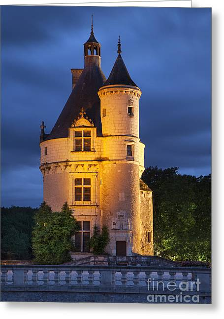 Guard Tower Greeting Cards - Chateau Chenonceau Greeting Card by Brian Jannsen
