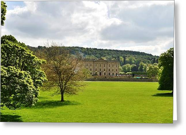 Historic Home Greeting Cards - Chatsworth House Greeting Card by Moments In Time Photography