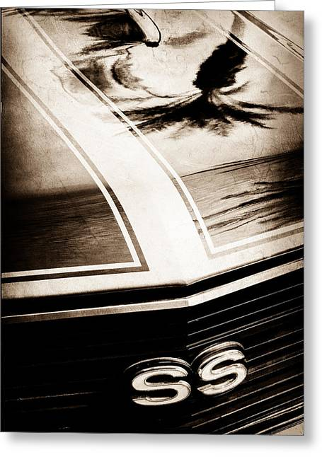 Chevrolet Chevelle Greeting Cards - Chevrolet Chevelle SS Grille Emblem Greeting Card by Jill Reger