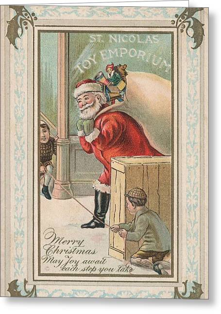 Toy Shop Greeting Cards - Christmas card Greeting Card by American School