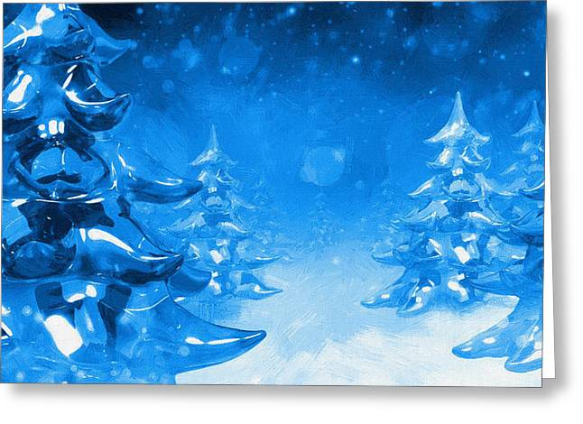 New Year Greeting Cards - Christmas Christmas Greeting Card by Victor Gladkiy